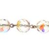 Beaded Chain 10mm Crystal Aurora Borealis/silver